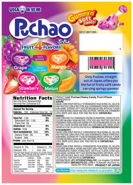 Fruit 4 Flavors Package - Back