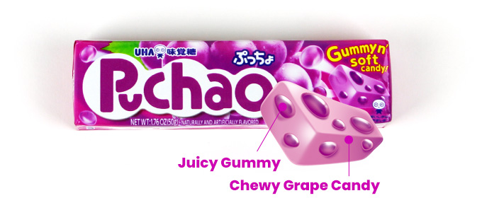 Juicy Gummy, Chewy Grape Candy
