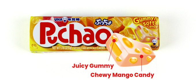 Juicy Gummy, Chewy Mango Candy