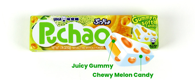 Juicy Gummy, Chewy Melon Candy
